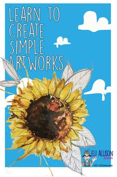 Always wanted to be creative but never sure where to start? Then start here, every week I create simple art tutorials that anyone can have a go at. This's week art adventure is a painted sunflower. The abstract nature being a forgiving style to work in, there are no mistakes, just interesting bits. Pop along to my website and embrace your creative side. PIC: A colourful painted sunflower. Fairy Tree Houses, Easy Art Projects, Abstract Nature, Draw Your, Journalling, Learn To Paint, Simple Art, Art Tutorials, Mistakes
