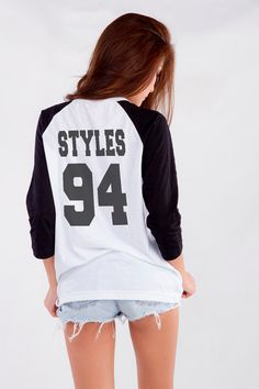 A classic Styles baseball tee to show who you're rooting for.  - Seventeen.com