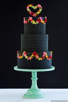 Because not all wedding cakes have to be white or pastel-colored