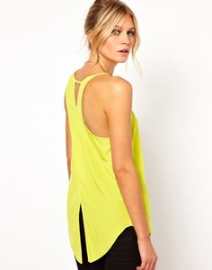 ASOS Vest with Asymmetric Straps and Wrap Back
