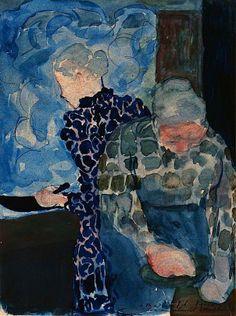 Edouard Vuillard (1868-1940) - Deux Femmes dans Interieur Sending art that you…