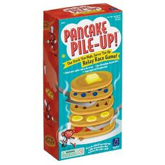 Race against the other servers back and forth from the griddle to the plate to assemble the perfect stack of pancakes in the correct order; blueberry, strawberry, chocolate chip, banana, and plain. $17.99
