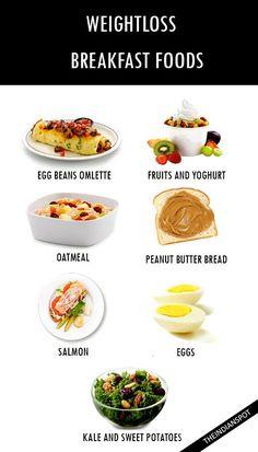 WEIGHTLOSS FOODS FOR BREAKFAST