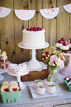 Festa com decoração Vintage