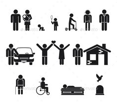 Life Stages - People Characters