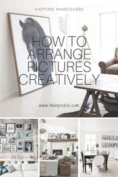 How to arrange pictures for an easy home improvement project. Transform a space for a home makeover. It's a naptime makeover...