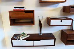 Modern Floating Walnut Console by FormbyImago on Etsy