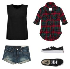 """""""Untitled"""" by futurecelebrity on Polyvore featuring Abercrombie & Fitch, rag & bone and Vans"""