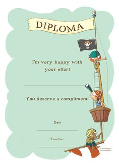 Diploma - Pirates Theme