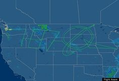 """File under Awesome Navigational Tricks: """"787 Dreamliner Draws Boeing Logo Across Country With Flight Path."""" Commercial aeronautics, meet Conceptual Art!"""