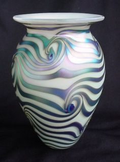 Eickholt Studio Iridescent EGYPTIAN WAVE Vase.