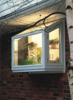More ideas below: DIY Bay Windows Exterior Ideas Nook Bay Windows Seat and Plants Dining Bay Windows Shutters Bay Windows Trim Treatments Kitchen Bay Windows Bench Bay Windows Blinds Curtains Bay Windows Bedroom and Living Room Kitchen Garden Window, Greenhouse Kitchen, Window Greenhouse, Kitchen Windows, Kitchen Gardening, Diy Bay Windows, Garden Windows, House Windows, Bow Windows