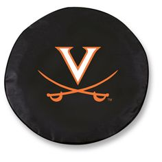 Virginia Cavaliers Black Tire Cover w/ Security Grommets