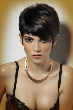 Hair Beauty - + Short Edgy Pixie Cuts and Hairstyles - chic better shorthairstylesforthickhair Short Pixie Haircuts, Cool Haircuts, Pixie Hairstyles, Cool Hairstyles, Funky Pixie Cut, Pixie Cuts, Edgy Pixie, Short Sassy Hair, Short Hair Cuts