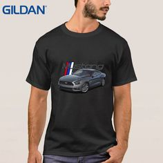Basic Hip-Tope Tee Shirt O Neck Shirts Summer Sale Ford Mustang