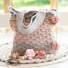 Mini Tote bag en crochet