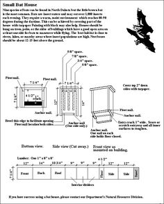 Bat House Plans....a new home to build for our bats eating bugs ...