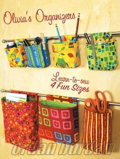 Organizadores, cute way to organize-maybe in closet or bathroom as well as craft room?