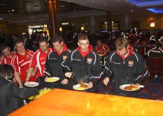 Huddersfield Giants enjoying one of our famous Buffets!