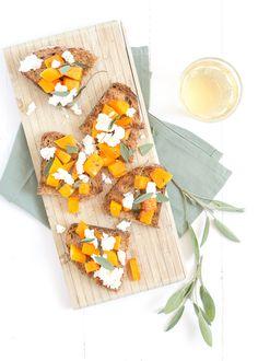 Bruschetta's met pompoen - #pumpkin toast