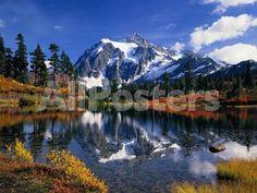 Autumn Foliage Surrounding Picture Lake by Craig Tuttle Landscapes Photographic Print - 61 x 46 cm