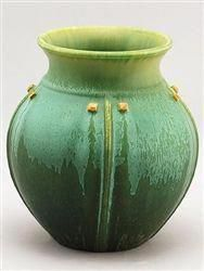 Prairie Globe Arts and Crafts Vase Beautiful earthy colors of greens with a hint of yellow, and a timeless design make this museum-quality vase stunning and very fitting for the Arts and Crafts, Mission or even Log Home. 7 H x 7 W 640003797030518014 Arts And Crafts For Teens, Art And Craft Videos, Arts And Crafts House, Easy Arts And Crafts, Quick Crafts, Creative Crafts, Pottery Vase, Ceramic Pottery, Ceramic Art