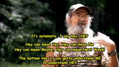"Si on his use of ""Hey!"""