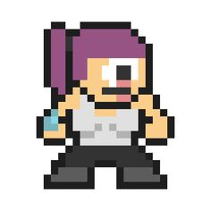 Leela from Futurama in the style of Mega Man. TONS more!