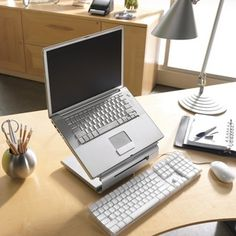 iLevel Laptop Raiser - The iLevel Laptop Raiser is an easy way to help relieve the eye and neck strain often associated with notebook computing.