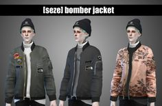 Bomber jacket at Seze via Sims 4 Updates