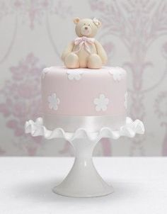 Gateau Baby Shower, Baby Shower Cupcakes, Shower Cakes, Baby Girl Cakes, Girl Cupcakes, Cupcake Cakes, Mini Cakes, Fancy Cakes, Cute Cakes