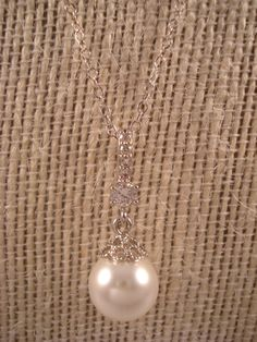 White Pearl Necklace Pearl Bridal by SherisUniqueBoutique on Etsy