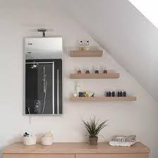Image result for bathroom floating shelves
