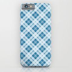 Adorable Light Blue Christmas tartan iPhone & Samsung Galaxy Case by #PLdesign #Christmas #Tartan #ChristmasGift
