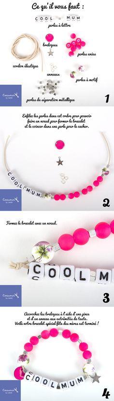 Rose Fluo Magenta en forme de cœur Poney perles Made USA Kids Valentine école Crafts