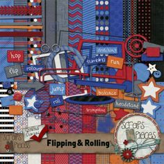 Flipping and Rolling - Digital scrapbook kit $5.99 - on sale for 1/2 off June 13-20