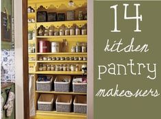 Pantry Makeovers! I love these ideas for organization.