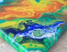 Tablou abstract acrylic (4 bucati) #1