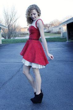 DIY Handmade and Hand-Beaded Asymmetrical Dress