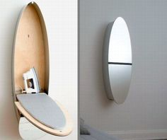 The Mirror/Ironing Board | 33 Insanely Clever Things Your Small Apartment Needs WEB SITE NOT WORKING?