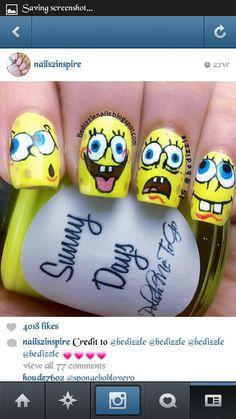 #spongebob #nails