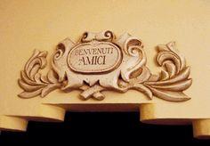 Benvenuti welcome sign for Italian and Tuscan decor