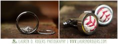 wedding rings, engagement ring, ring shot, cuff links, baseball cuff links, grooms gift, Virginia Wedding Photographer Lauren D Rogers Photography, Boar's Head Inn