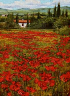 Vonnoh Robert William Poppies Extra Large Wall Art Print Premium Canvas Mural