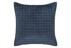 Hindan Blue Sham   Luxury Cushions   Lizard Orchid