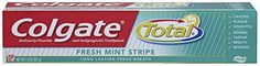 #manythings #Colgate Total Fresh Mint Stripe Toothpaste will leave your mouth feeling refreshed and minty clean as it gently removes plaque and works to freshen ...