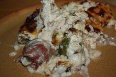 recept melegétel főétel húsétel csirke mell bacon kelbimbo sajtszósz