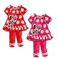 Minnie Mouse Baby Outfit | Girls Minnie Mouse Clothes Baby Top Dress Pants Legging Set 6M 3Y ...