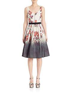 Marc Jacobs - Floral V-Neck Dress