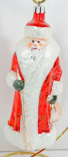 58c73ebb8 Retired Christopher Radko Red Russian Santa Christmas Ornament First  Coloration #ChristopherRadko Amazon Christmas, Santa